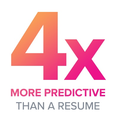 4x more predictive than a resume.