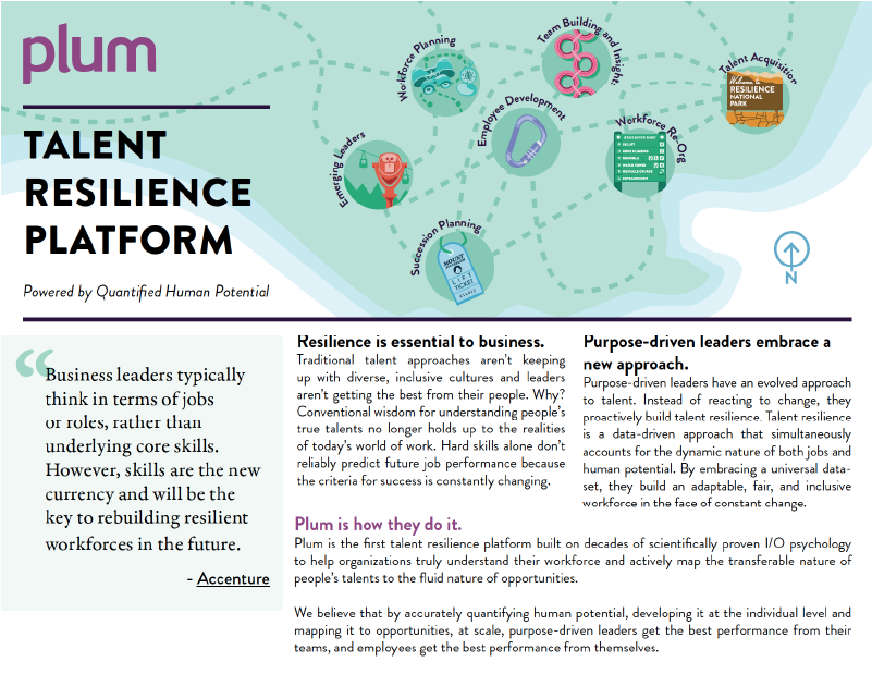 Overview of the Plum Talent Resilience Platform